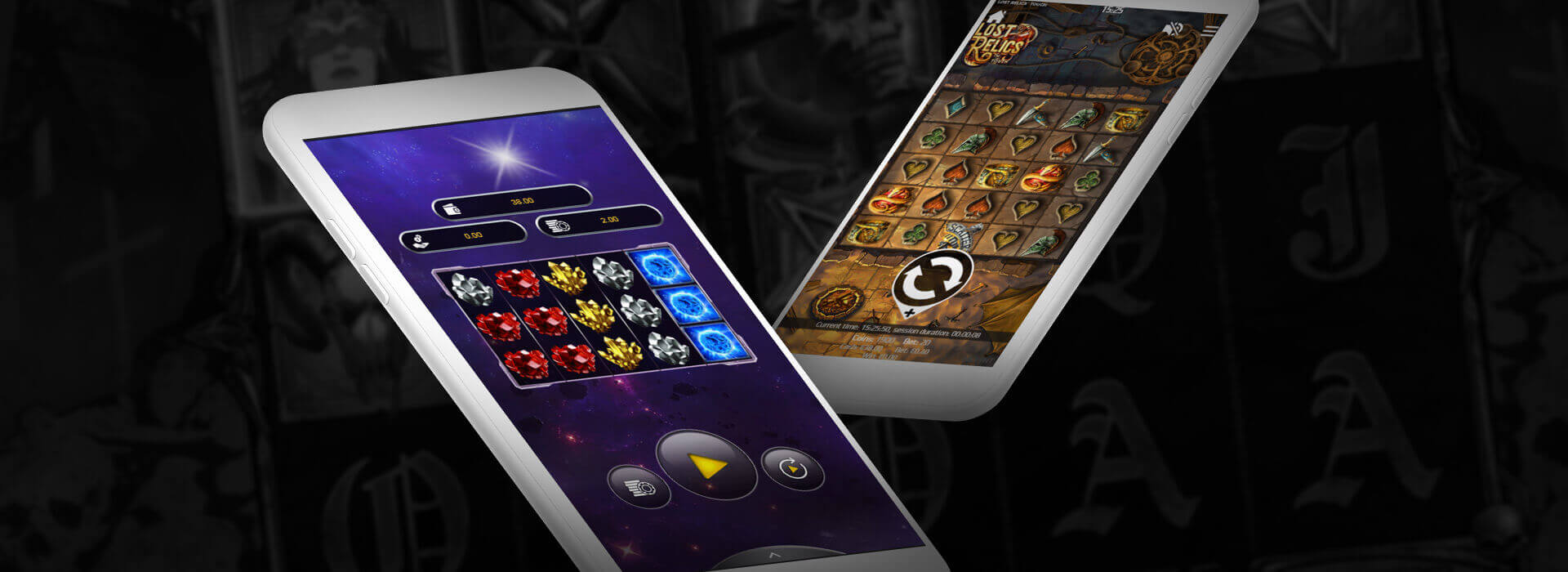 Mobile version of 1xSlots online casino
