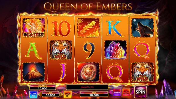 Queen of Embers – Slot Free Spins no Deposit 2020 – 1xSlots