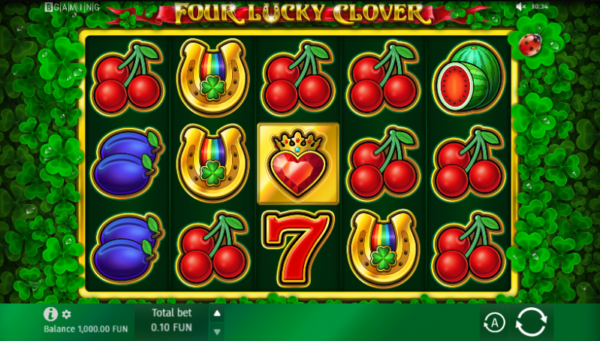 Four Lucky Clover – Slot Free Spins no Deposit 2020 – 1xSlots